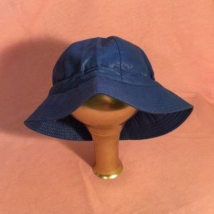 London Fog blue bucket rain hat